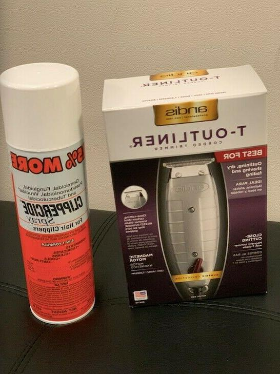 combo t outliner trimmer and clippercide spray