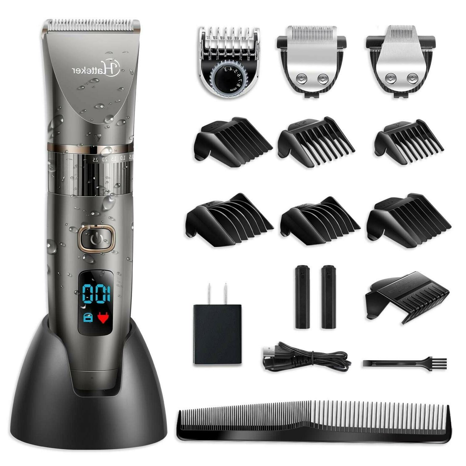 Hatteker Cordless Trimmer Pro Trimmer Haircut Men Rechargeable