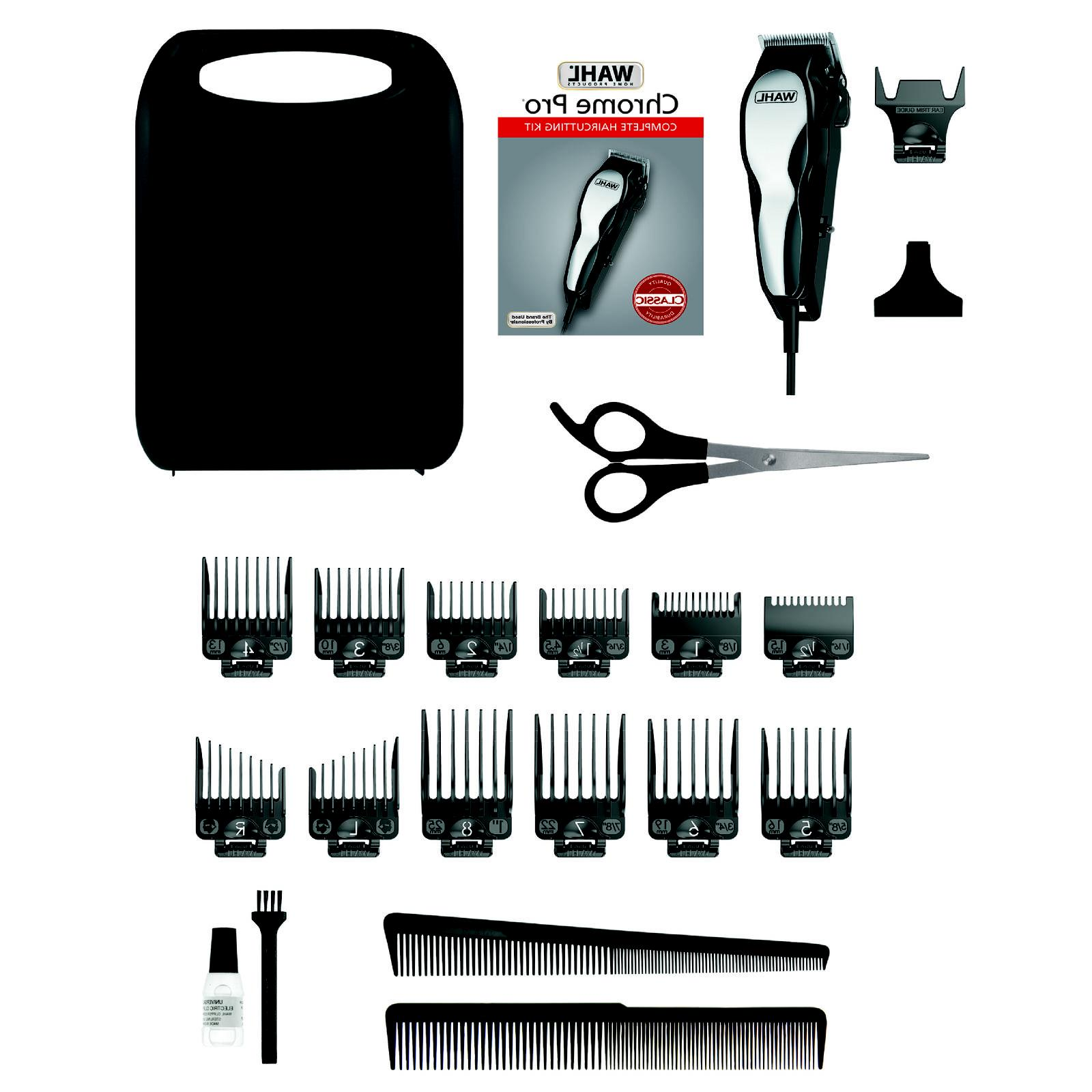 Wahl Deluxe Chrome Complete Haircut Kit With Finishing Trimmer