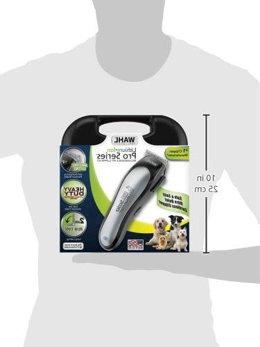 WAHL Series Rechargeable Noise/Quiet Grooming Hair Small/Large Dogs, Thick Cats Professionals.