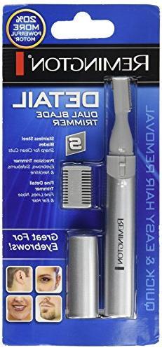 Remington Dual Blade Detail Trimmer Eyebrows Nose Ear Sidebu