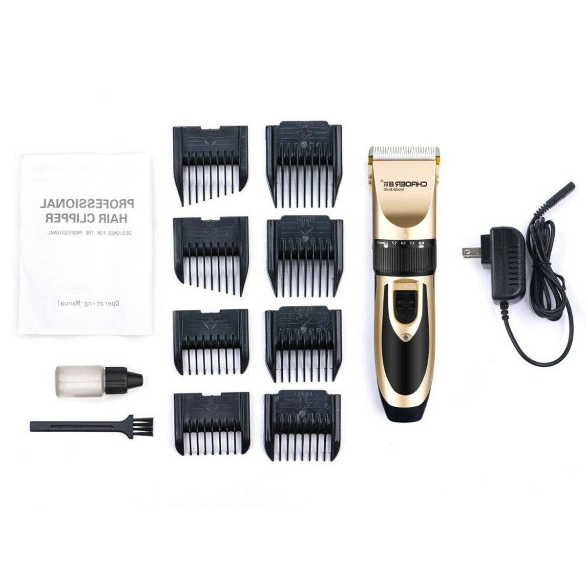 Electric Hair Cutting Trimmer Cordless Haircut Barber Kit