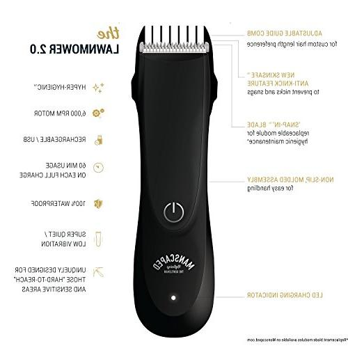 Best Electric Manscaping Hair Ceramic Wet/Dry Clippers, Built-In Razor