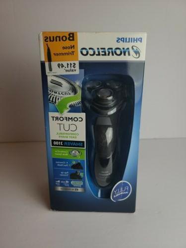 electric shaver 3100 with bonus nose trimmer