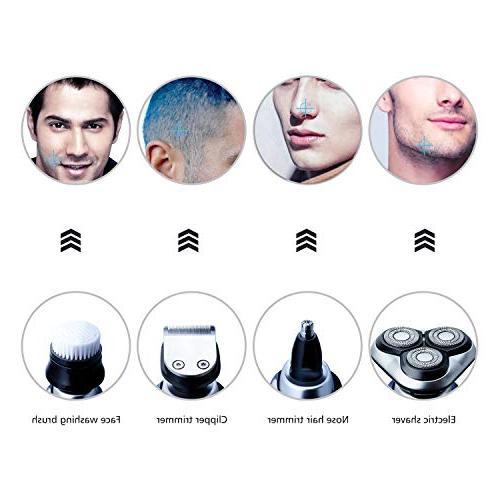 Hatteker Men Rotary Razor In 1 Face Cleaning Brush USB