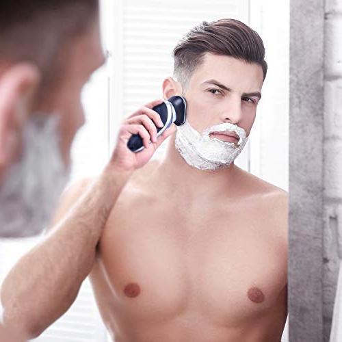 Hatteker Shaver For Men Rotary Shaver Razor Wet 4 In Brush USB