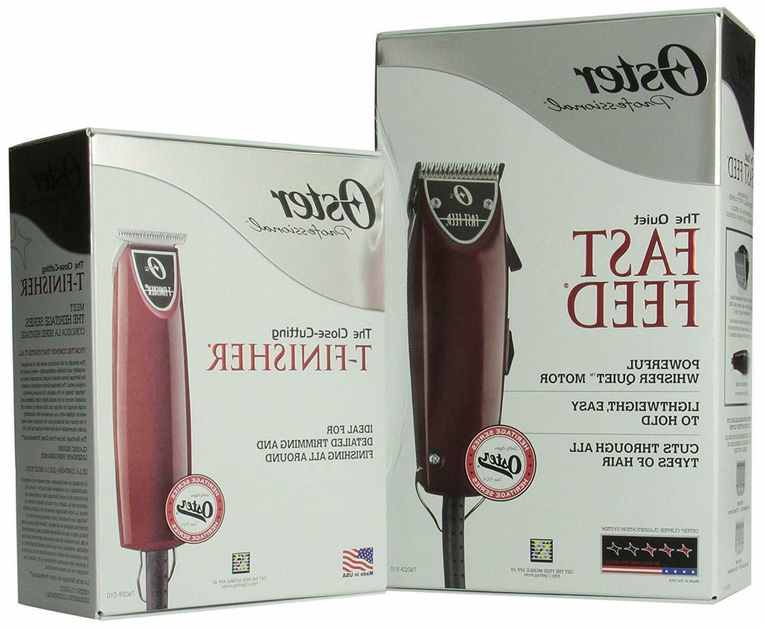 Oster Fast Feed Clipper T-finish Trimmer Combo