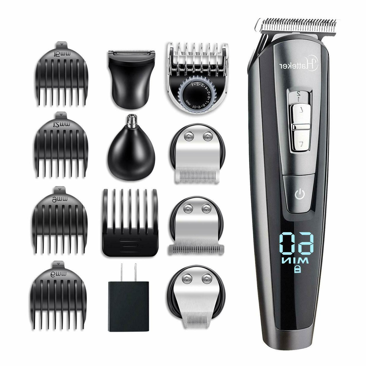 men cordless mustache hair trimmer groomer kit