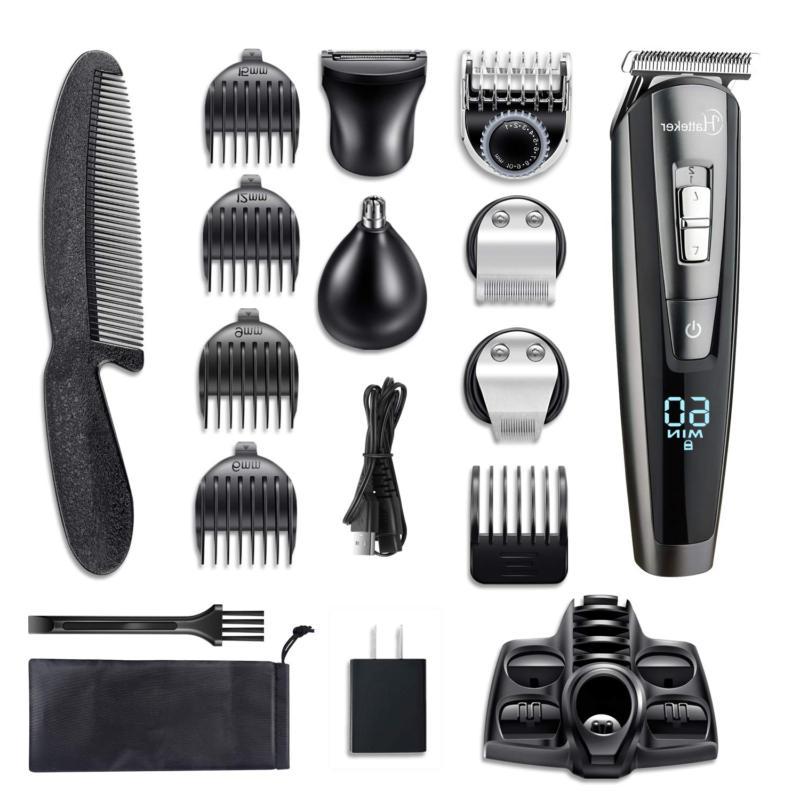 HATTEKER Hair Trimmer Kit For Cordless Trimmer T