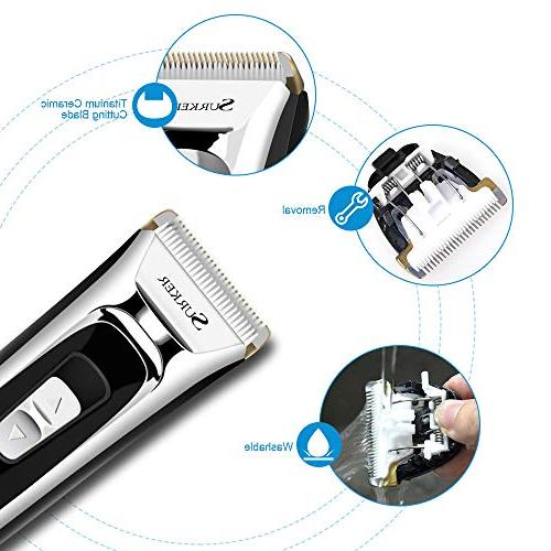 Professional Clippers for Men, Hair Electric Cutting Kit Adjustment, Security and LED