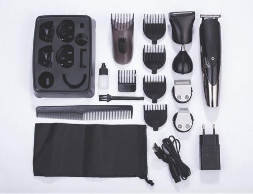 Hatteker Rechargeable Men's Electric Hair Clipper Razor Kit