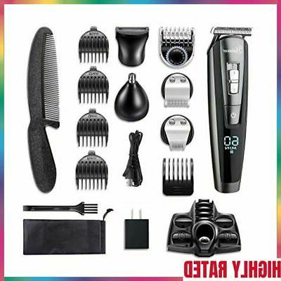 hatteker beard trimmer kit for men cordless