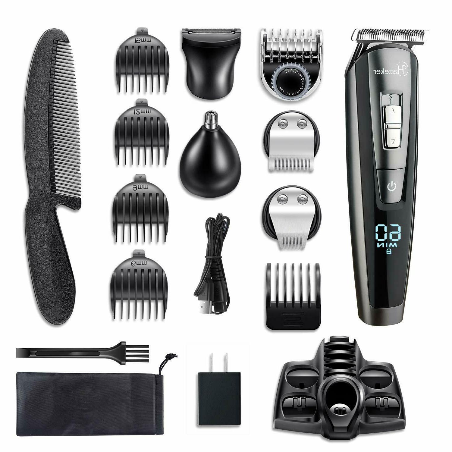HATTEKER Men Hair Groomer rechargeable