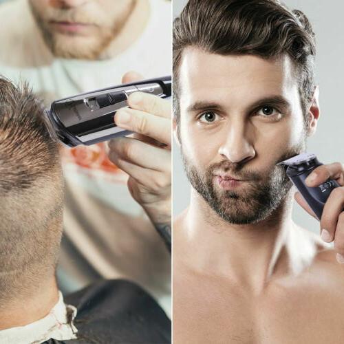 HATTEKER Hair Clippers Beard Trimmer Mustache Nose Hair Kit