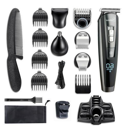 hatteker men hair clippers beard trimmer cordless