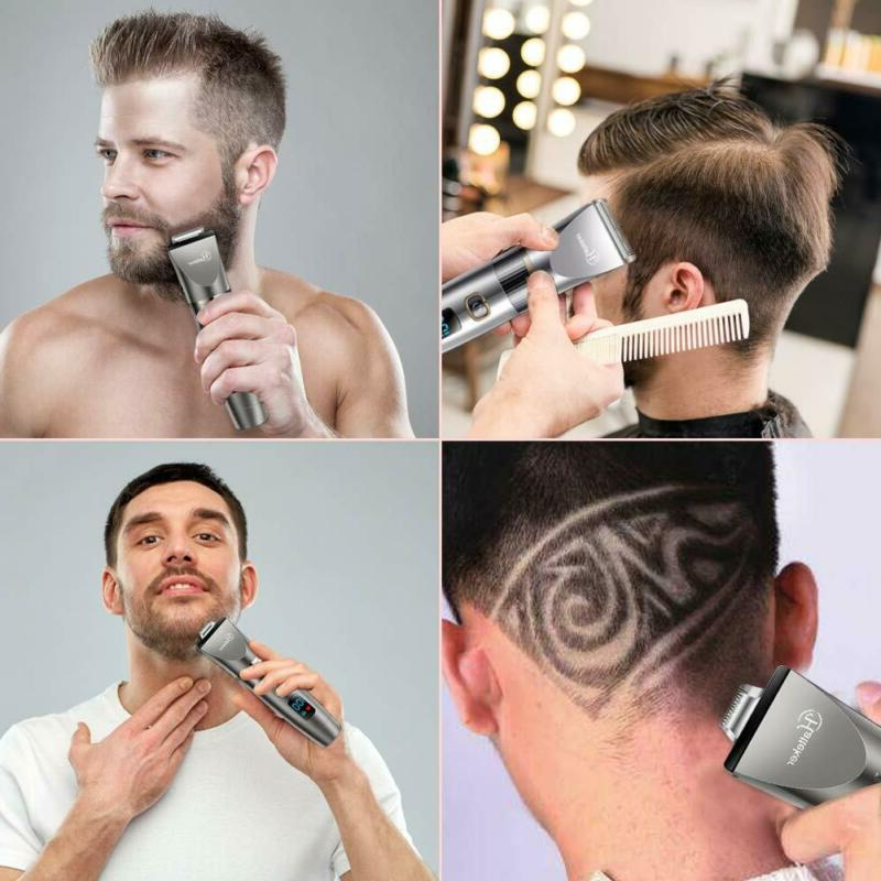 Hatteker Mens Beard Trimmer Cordless Hair Trimmer Hair Clipp