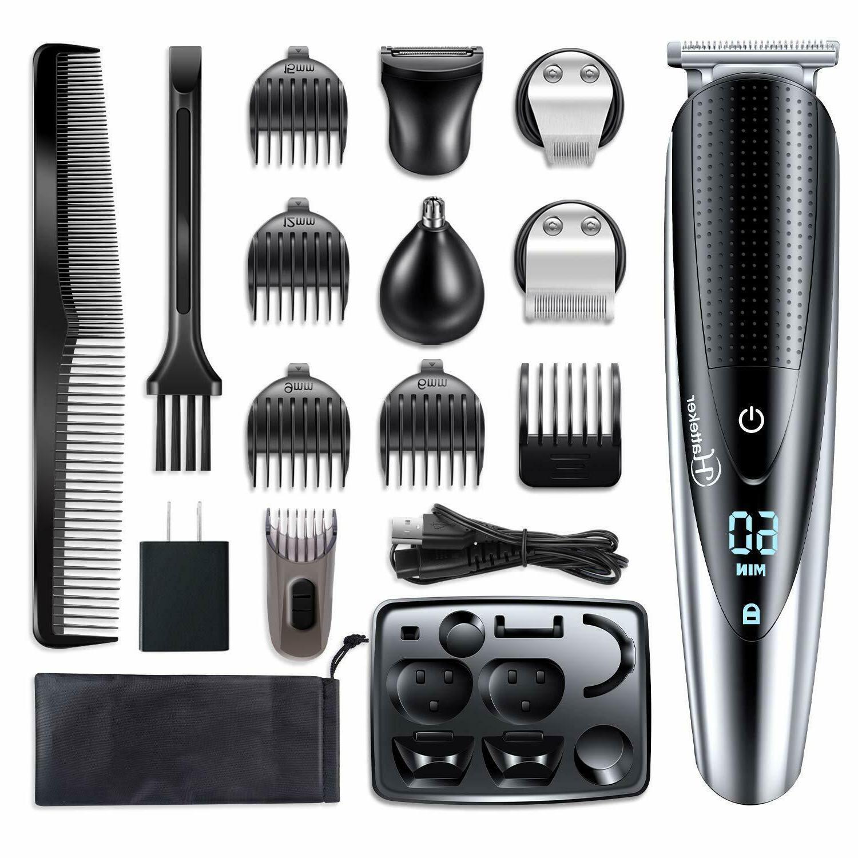 Hair Beard Trimmer Clipper Cutting Kit Multi Groomer Safe Wa