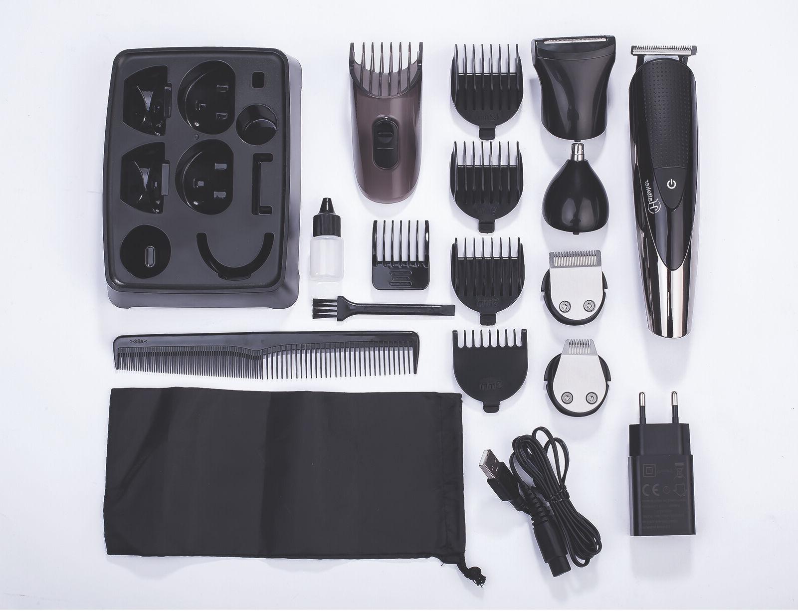 Hatteker 5IN1 Men Trimmer Mustache Trimmer Nose Ear Kit