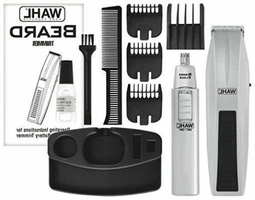Men's Mustache Wireless Cordless Beard Trimmer Hair Clipper