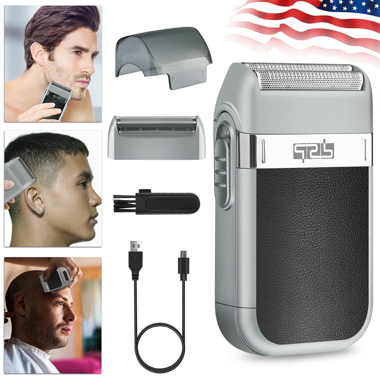 Men's USB Electric Shaver Trimmer Razor Rechargeable Beard Shaving