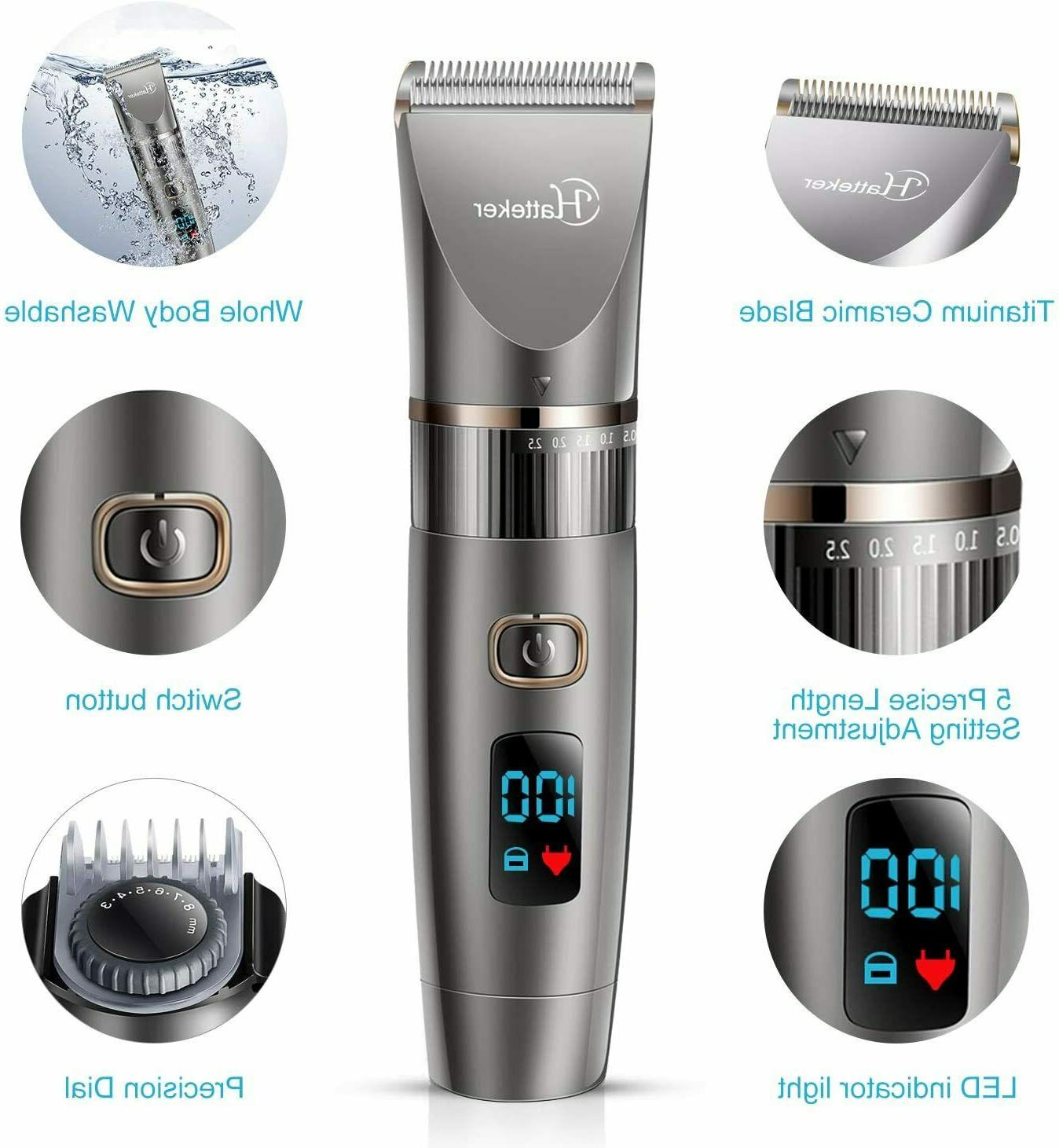 Mens Trimmer Cordless Clipper Detail Grooming