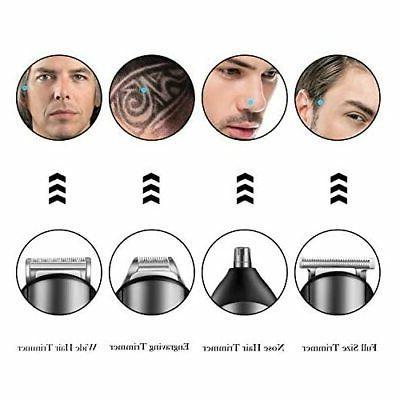 Hatteker Beard Grooming Kit Cordless Trimmer Trimm...