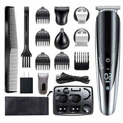 Hatteker Mens Hair Clipper Beard Trimmer Grooming kit Hair t