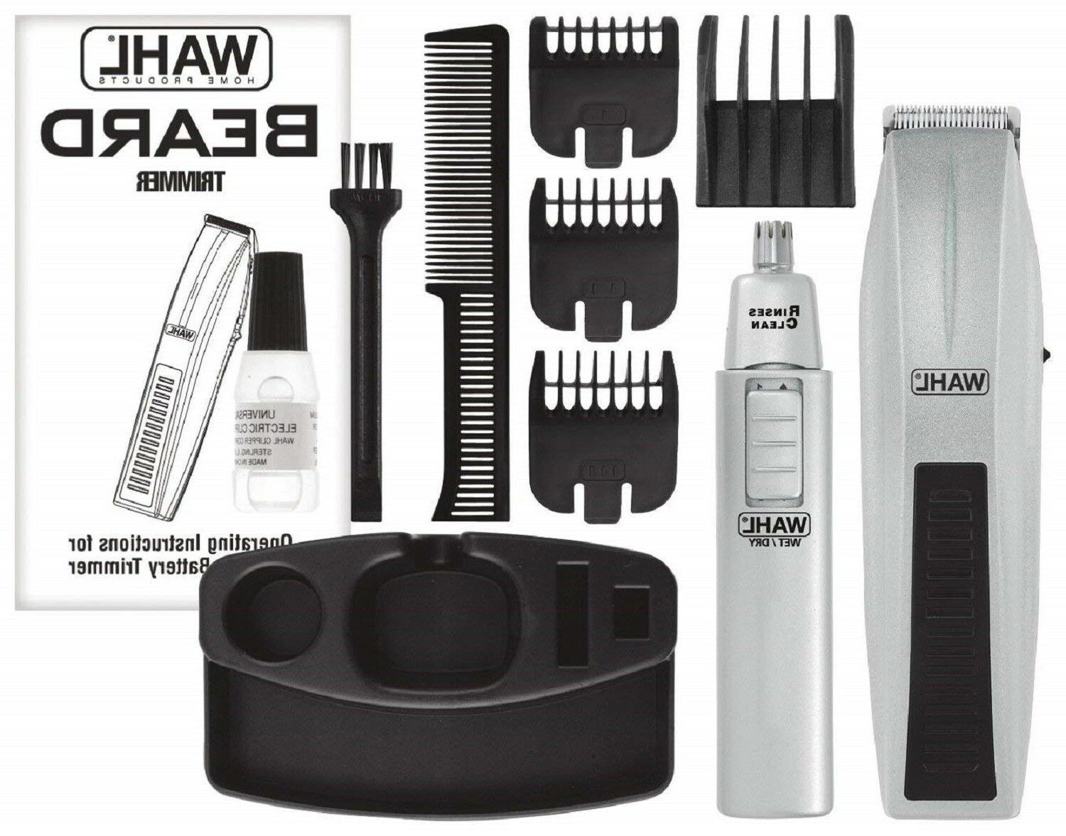 WAHL AND TRIMMER Mens Shaver Ear Nose Brows Set