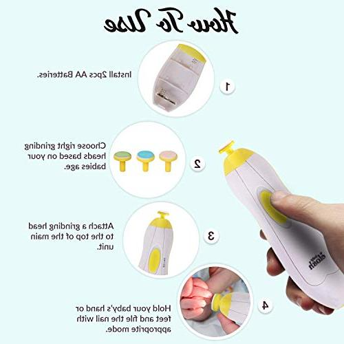 ELOSH Nail Nail Clipper with Light for Newborn Infant and and - Yellow