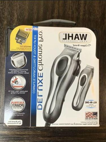 new chrome pro deluxe clippers haircut kit