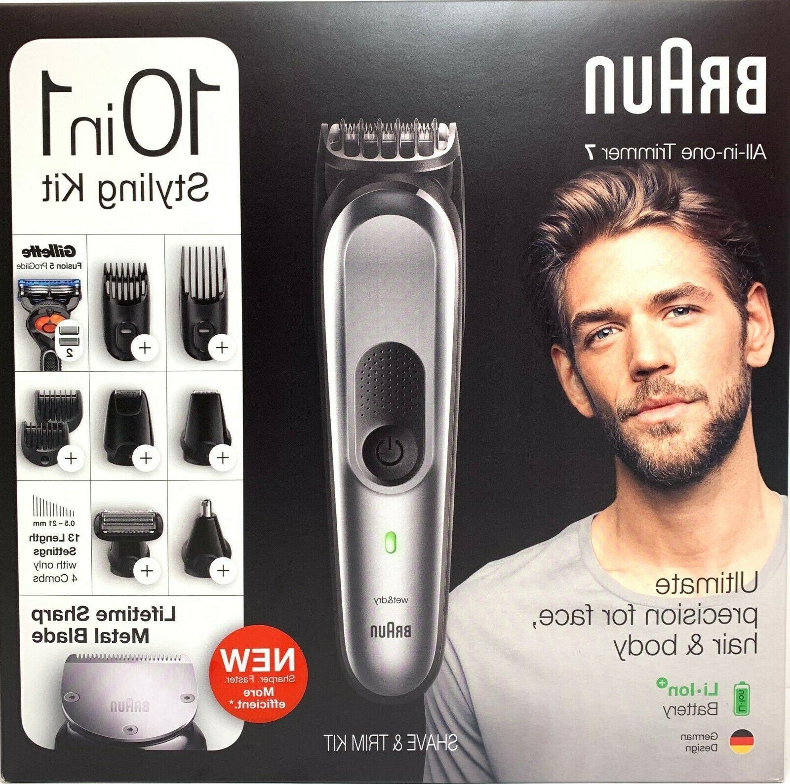 NEW Braun MGK7221 Hair Beard for Men, Kit