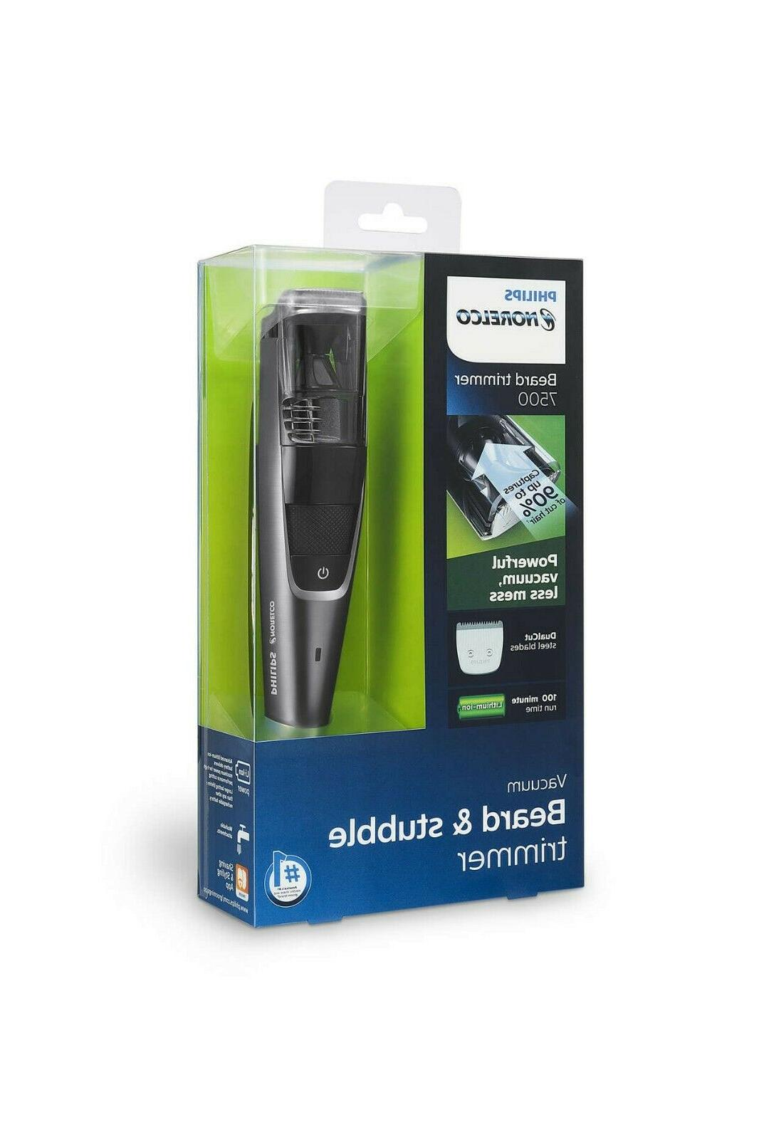 Philips Norelco BT7515 7500 Cordless Vacuum Stubble Beard Tr
