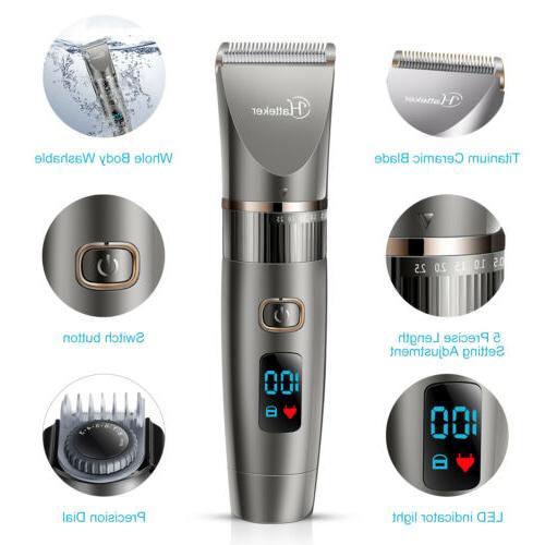 Hatteker Pro Hair Hair Beard Men's Cordless Haircut Kit