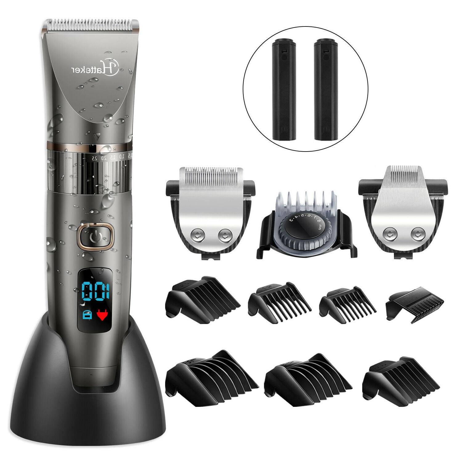Hatteker Men's Hair Clipper Beard Trimmer Hair Cutting Machi