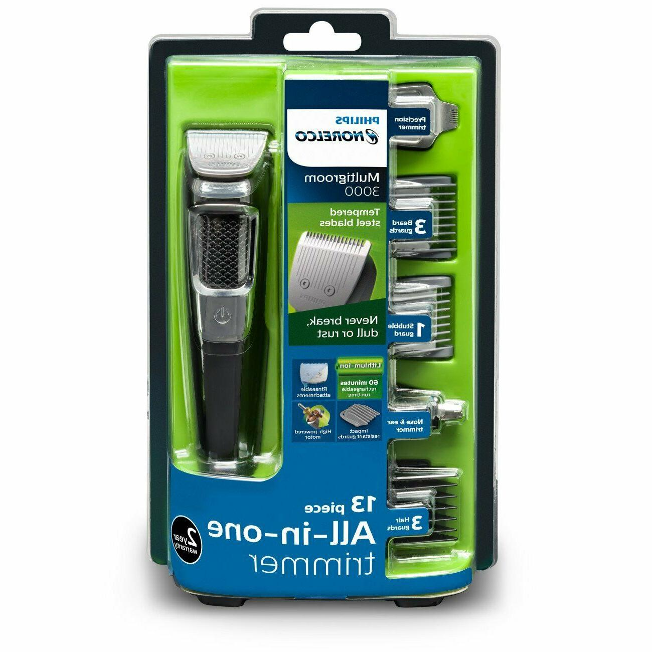 Philips Norelco Rechargeable Grooming Kit Beard Nose