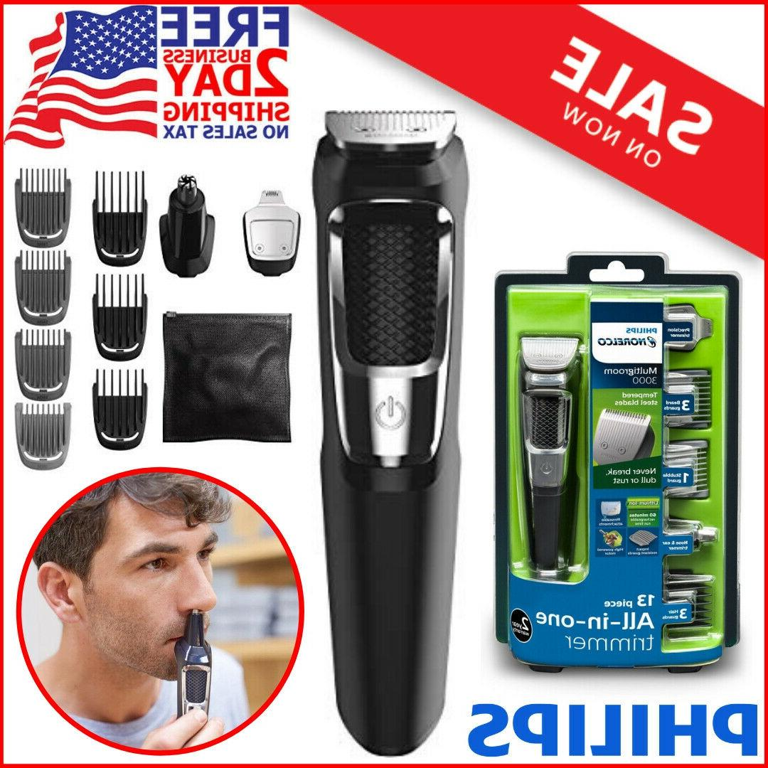 rechargeable grooming kit beard nose ear hair