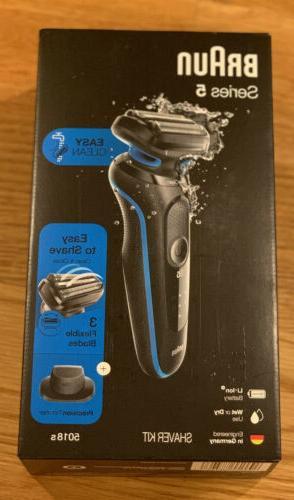 Braun Series 5 Easy Clean Electric Razor 5018s for Men w/Tri