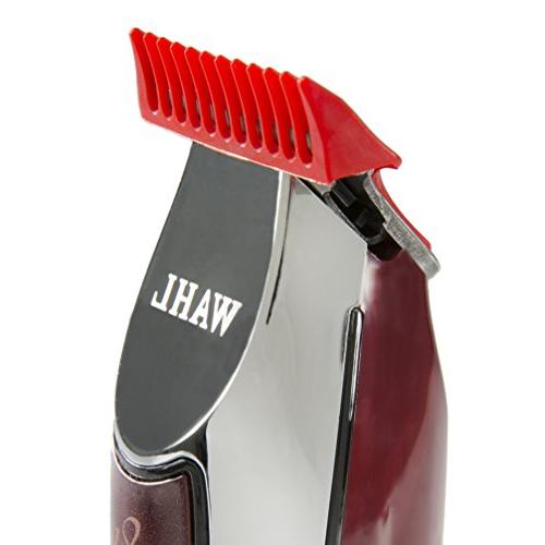 Wahl Professional Detailer #8081 - T-Blade, 3 Trimming Guides , Blade Guard, Oil, and Operating