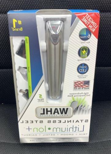 Wahl Stainless Steel Lithium Ion Trim, Groom, Detail & Hairc