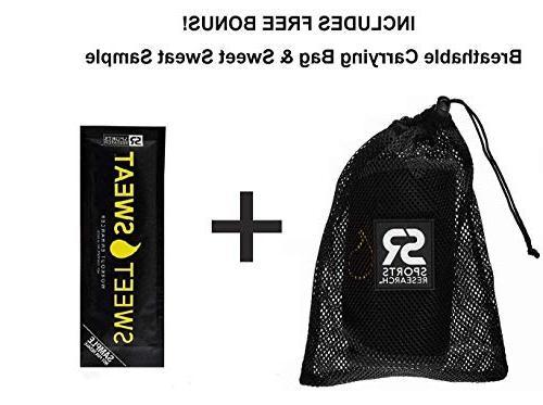 Sports Research Sweet Premium Waist Trimmer Men & Free Sample of Sweet Sweat