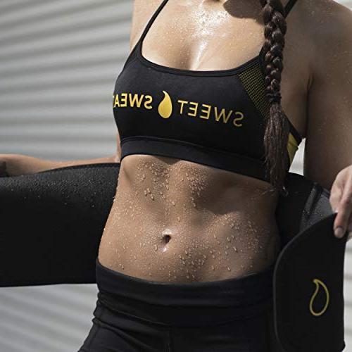 Sports Research Sweet Premium Waist Men & Women. Includes Free of Sweat Gel!