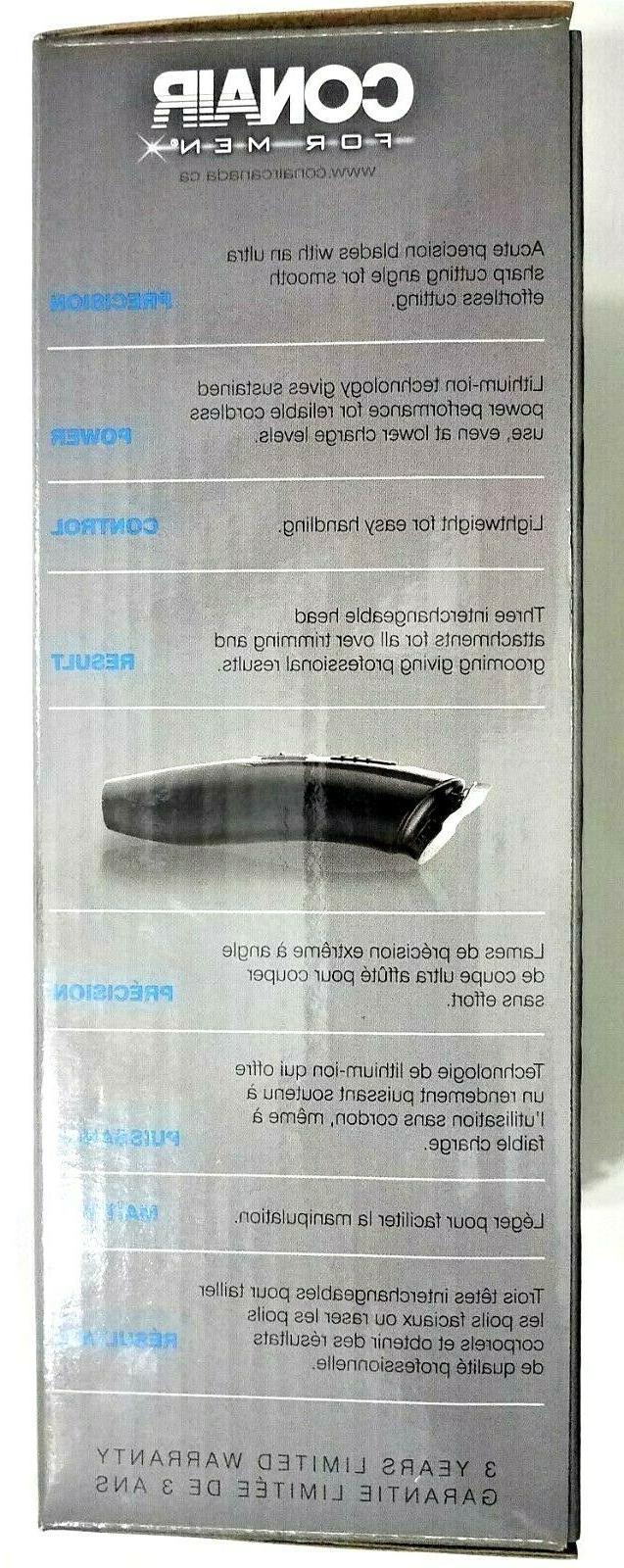 Conair Trimmer Cord Lithium-Ion Precision Detail Nose Beard