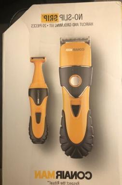 Conair Man No-Slip Grip Haircut and Grooming Kit, 20 Pieces
