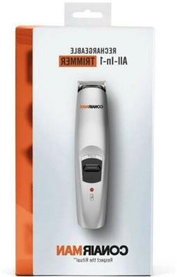 Conair Man Rechargeable All-In-1 Trimmer Beard/Mustache New