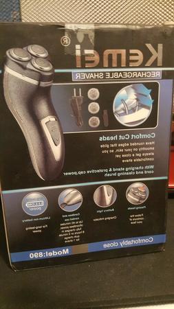 Men's 3D Electric Shaver Razor Cordless Deluxe Rotary Rechar