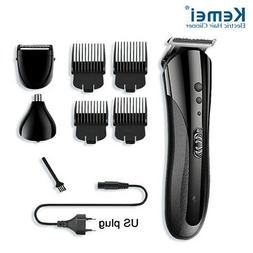 KEMEI Men's Black Electric Shaver Razor Beard Trimmer Nose B