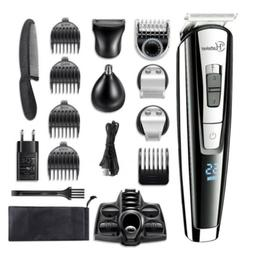Hatteker Men's Waterproof Professional Cordless Hair Trimmer
