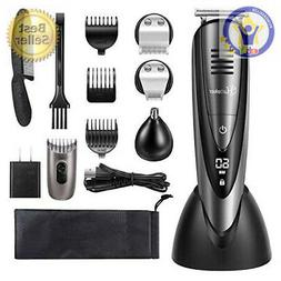 mens beard trimmer grooming kit cordless mustache