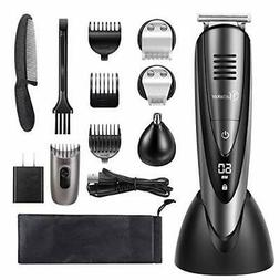 Hatteker Mens Beard Trimmer Grooming Kit Cordless Mustache T