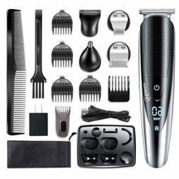 Hattteker Mens Beard Trimmer Grooming kit Hair trimmer Musta